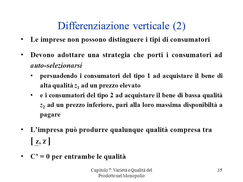 Differenziazione verticale (2)