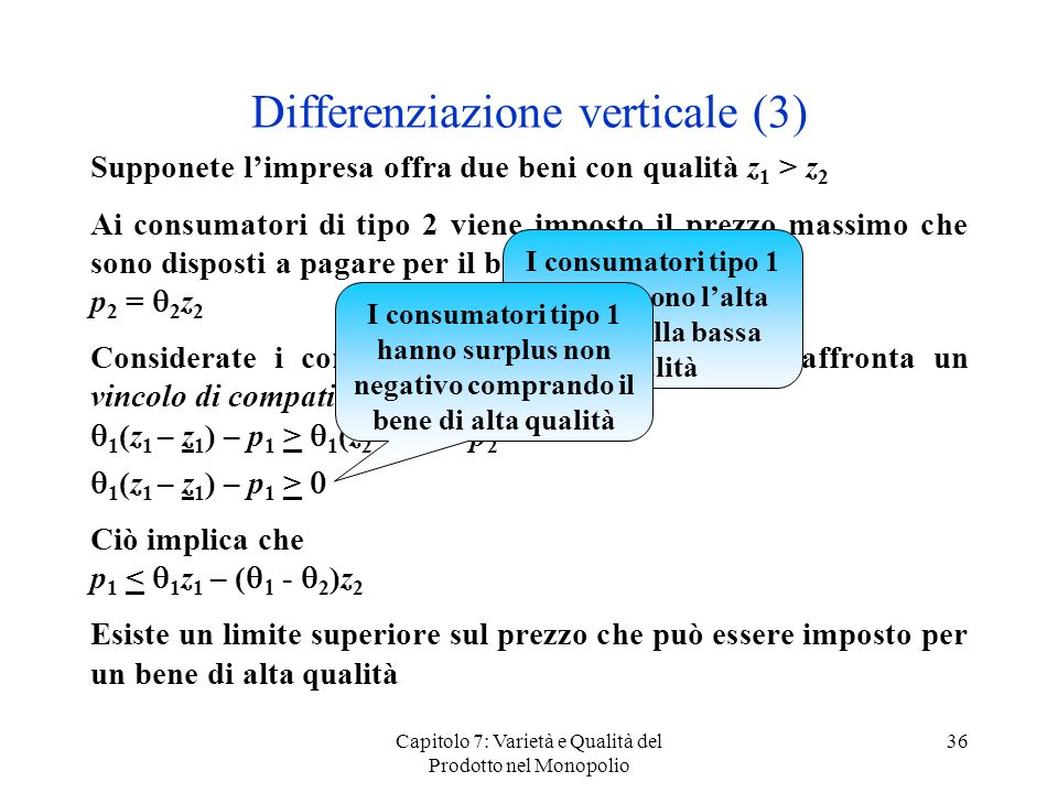 Differenziazione verticale (3)