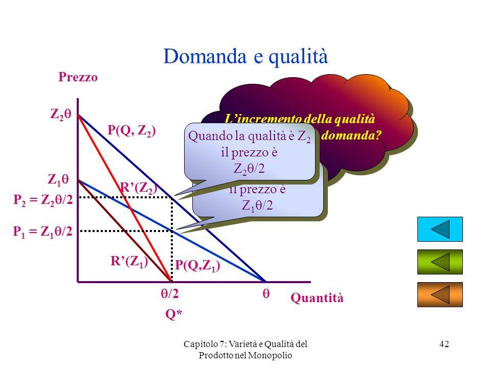 L'incremento della qualità come influenza la domanda
