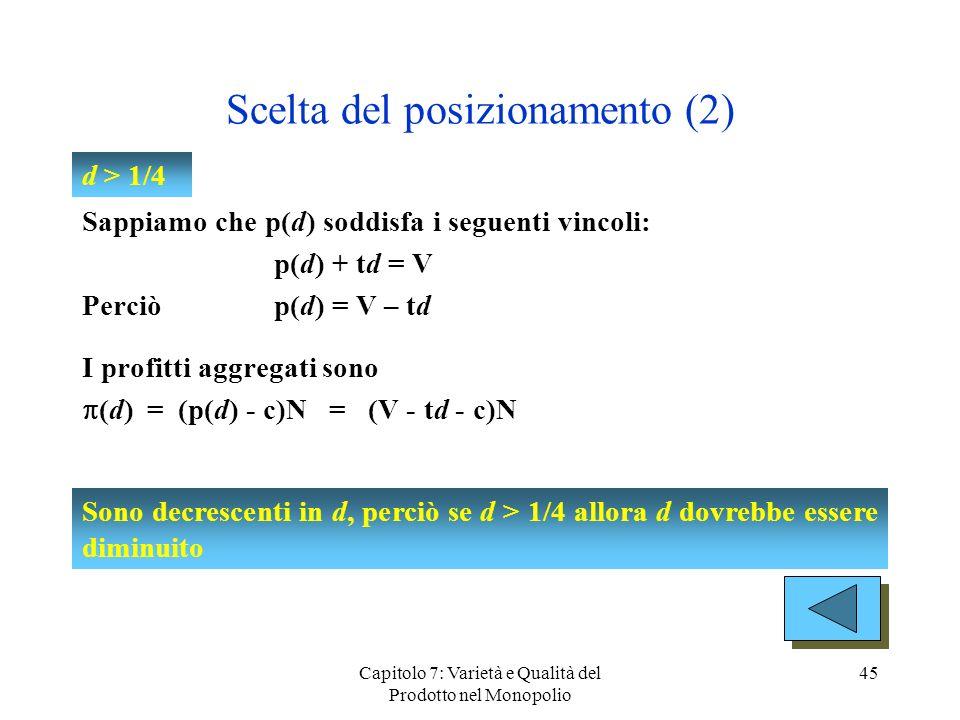 Scelta del posizionamento (2)
