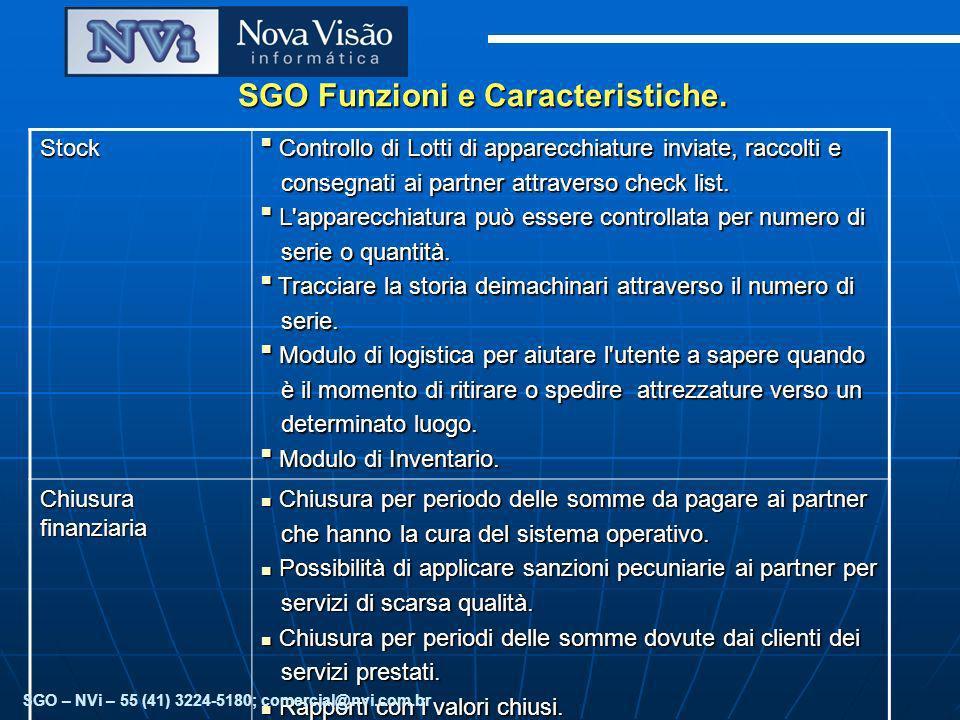 SGO Funzioni e Caracteristiche.