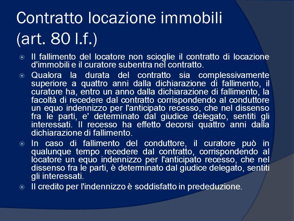 Contratto locazione immobili (art. 80 l.f.)