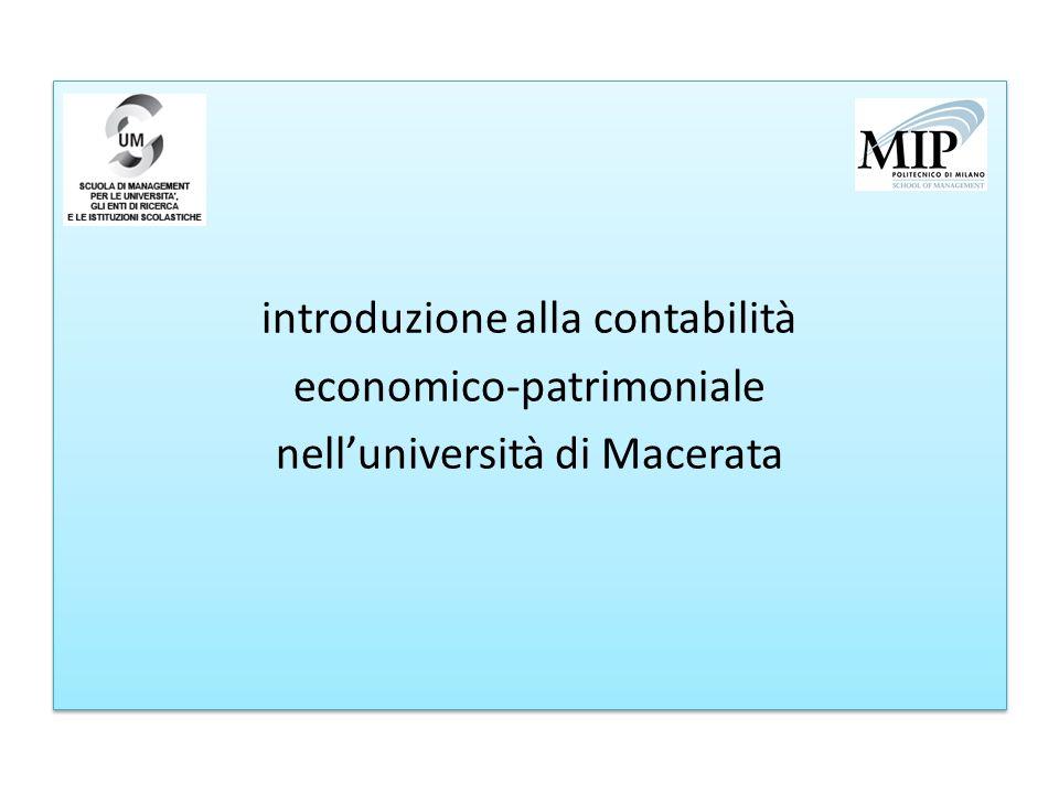 introduzione alla contabilità economico-patrimoniale nell'università di Macerata