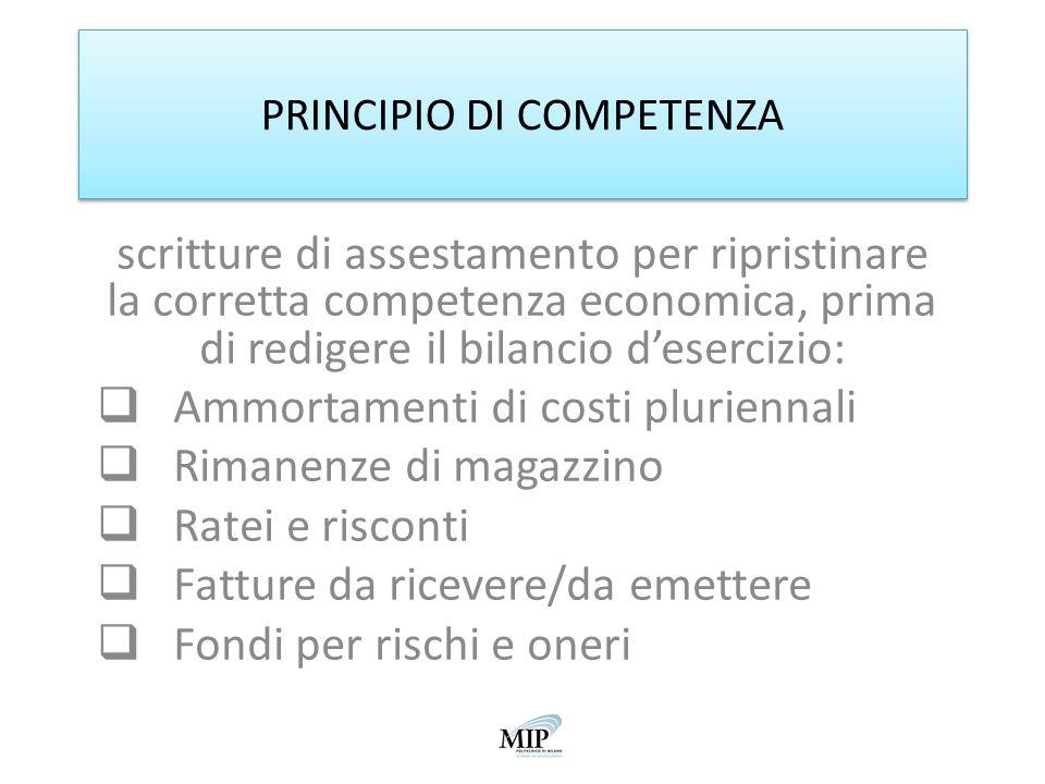 PRINCIPIO DI COMPETENZA