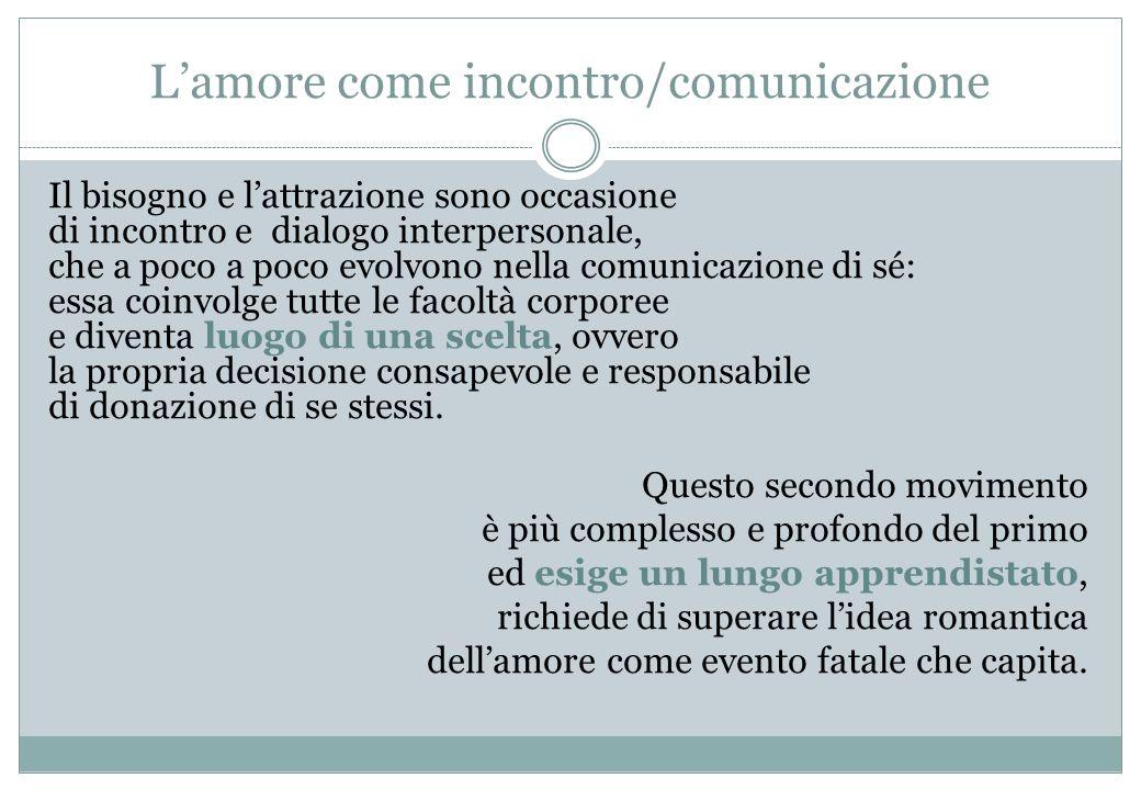 L'amore come incontro/comunicazione