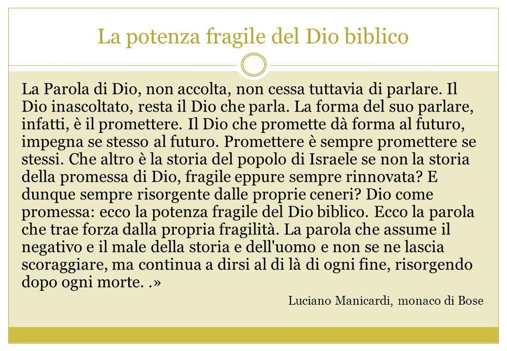 La potenza fragile del Dio biblico