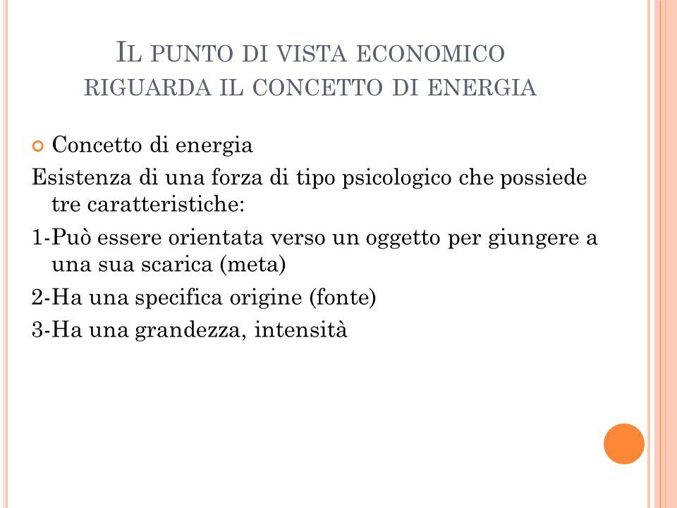 Il punto di vista economico riguarda il concetto di energia