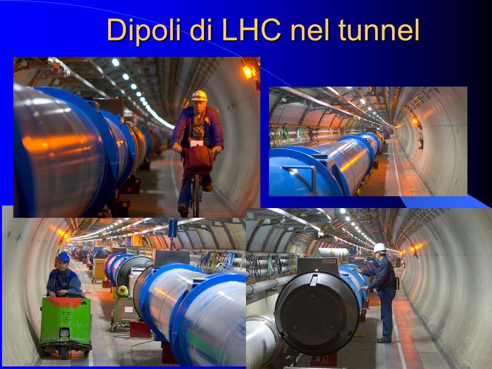 Dipoli di LHC nel tunnel