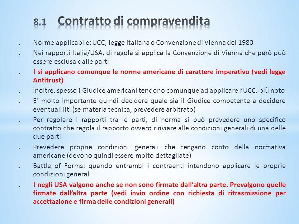8.1 Contratto di compravendita
