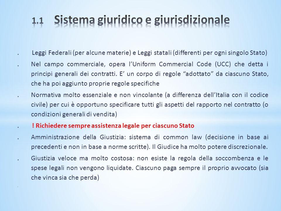 1.1 Sistema giuridico e giurisdizionale