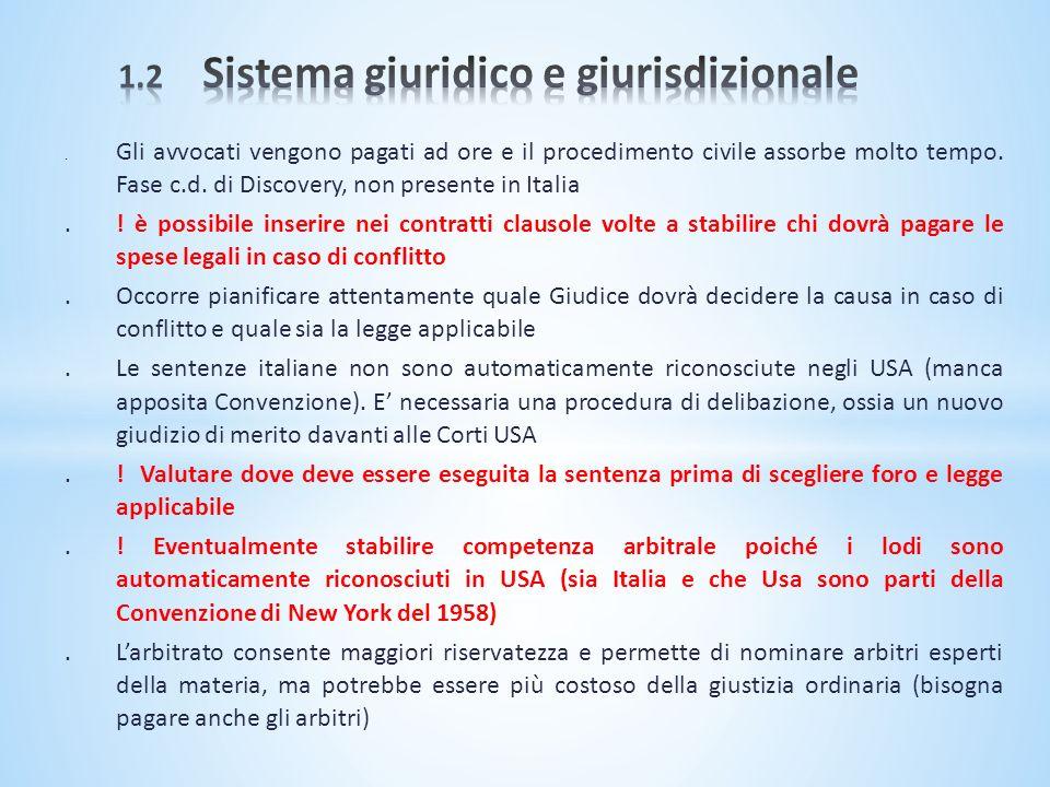 1.2 Sistema giuridico e giurisdizionale