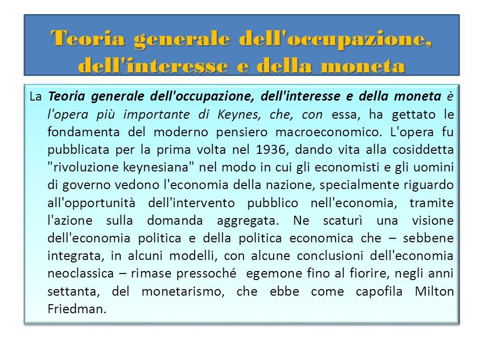 Teoria generale dell occupazione, dell interesse e della moneta