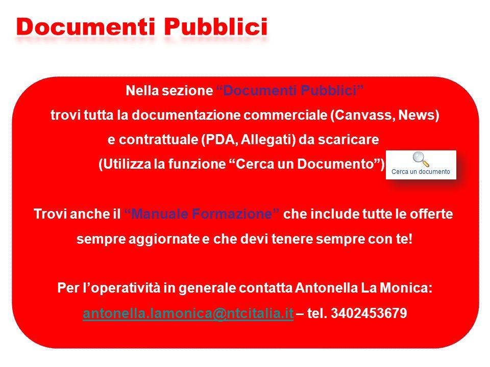 Documenti Pubblici antonella.lamonica@ntcitalia.it – tel. 3402453679
