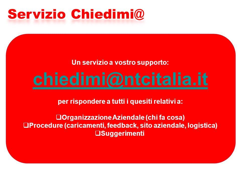 chiedimi@ntcitalia.it Servizio Chiedimi@