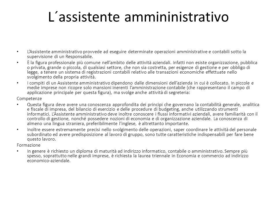 L´assistente ammininistrativo
