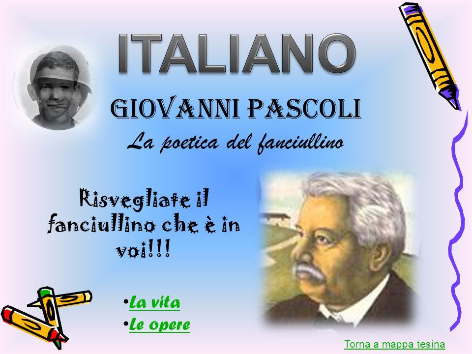ITALIANO Giovanni Pascoli La poetica del fanciullino