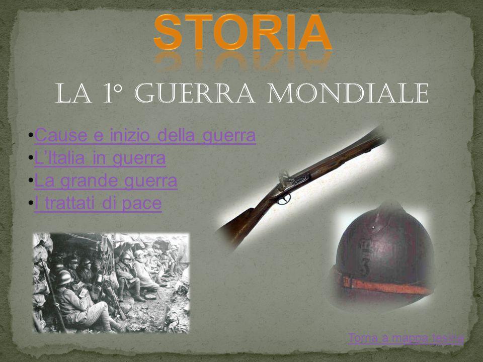 STORIA LA 1° GUERRA MONDIALE Cause e inizio della guerra