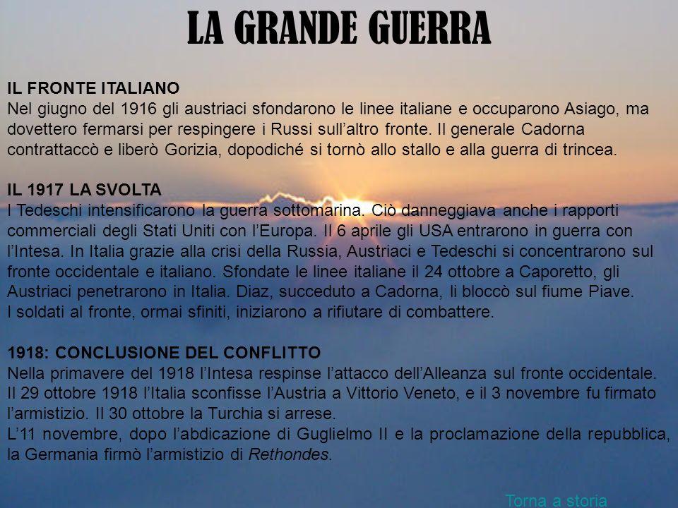 LA GRANDE GUERRA IL FRONTE ITALIANO