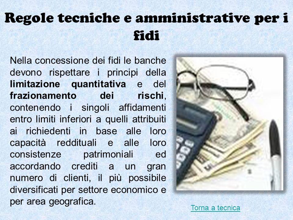 Regole tecniche e amministrative per i fidi