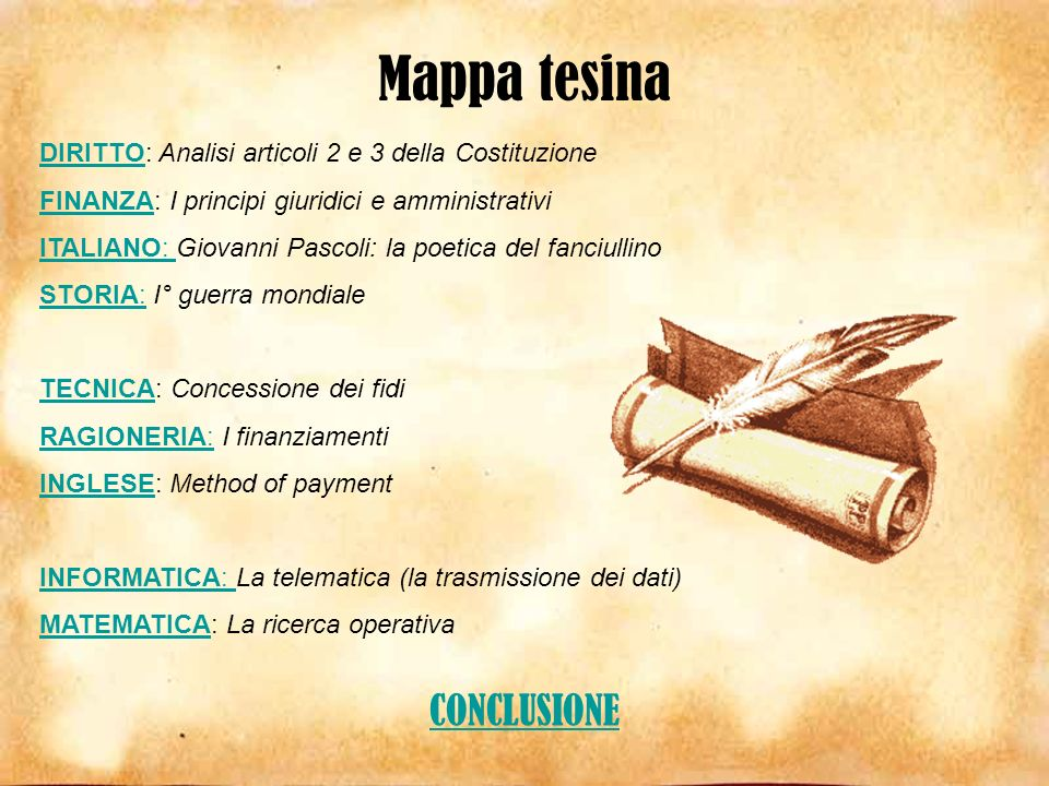 Mappa tesina CONCLUSIONE
