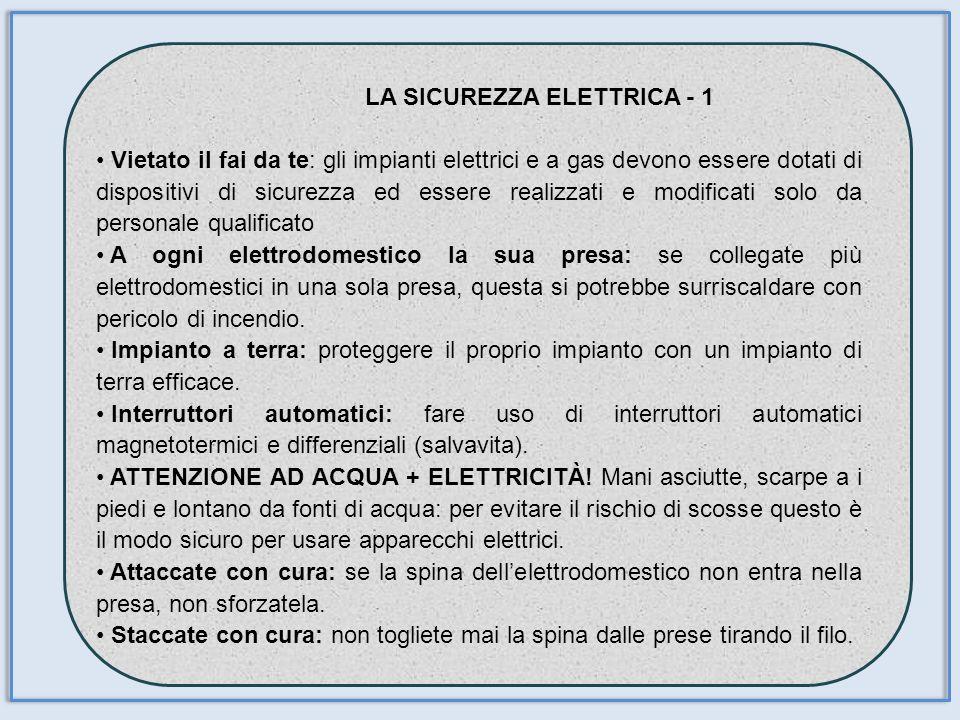 LA SICUREZZA ELETTRICA - 1