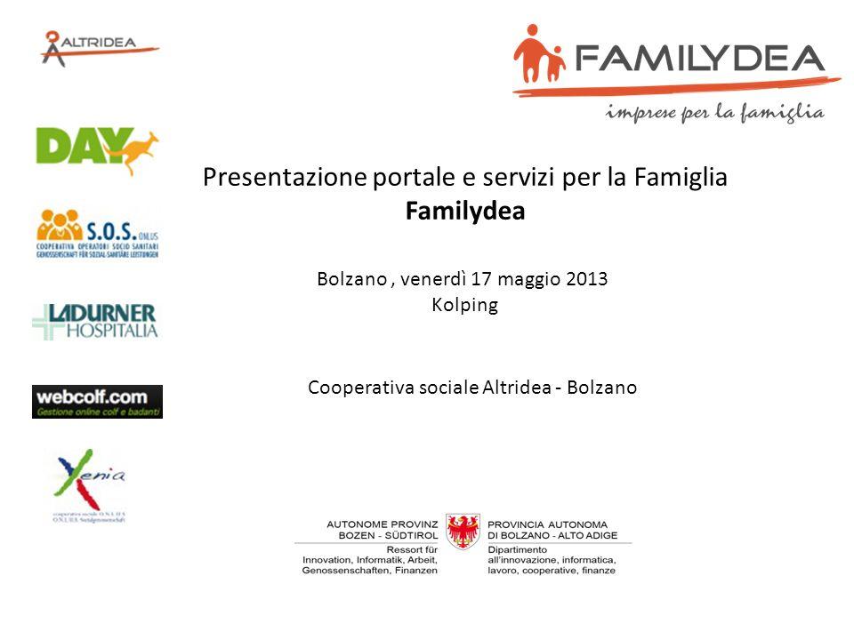 Presentazione portale e servizi per la Famiglia Familydea