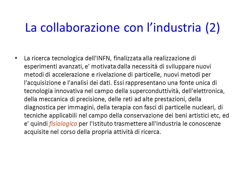 La collaborazione con l'industria (2)