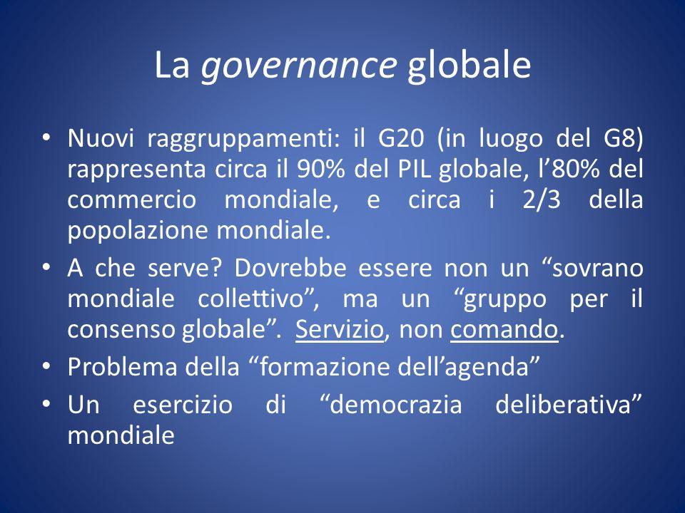 La governance globale