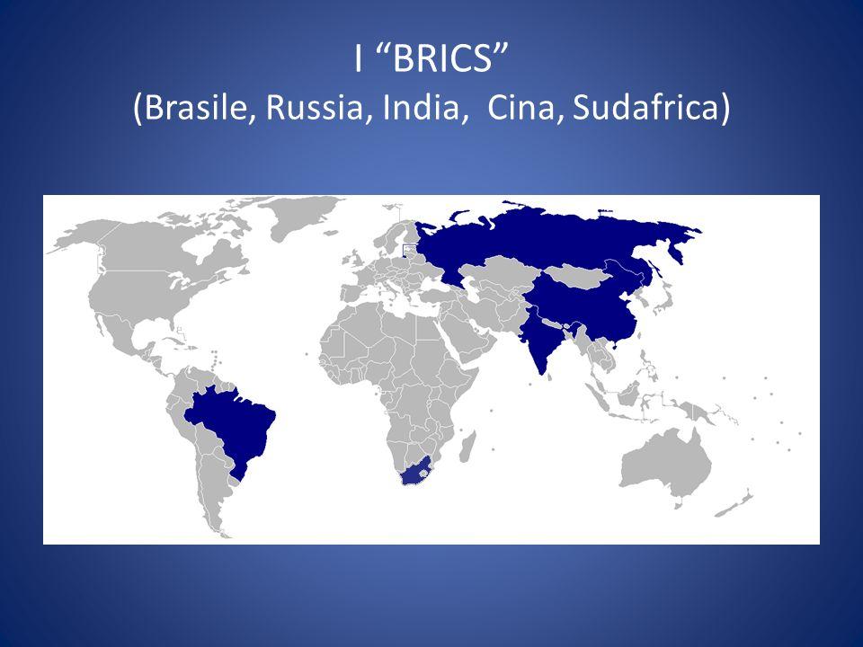 I BRICS (Brasile, Russia, India, Cina, Sudafrica)