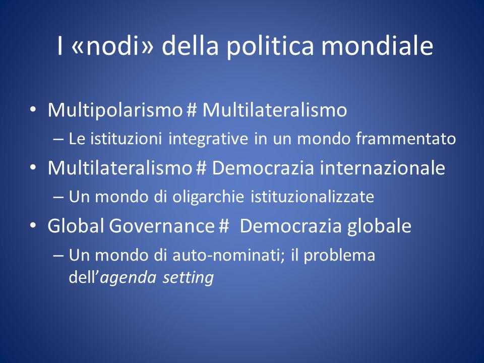 I «nodi» della politica mondiale