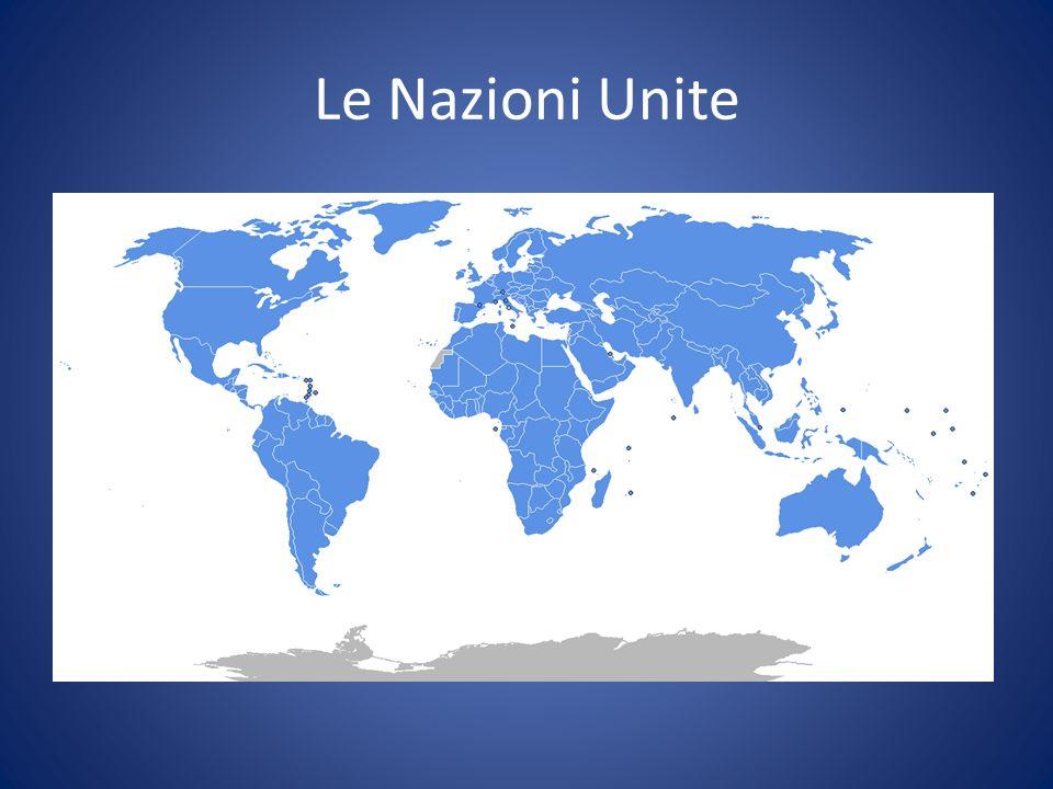 Le Nazioni UniteAssemblea Generale delle Nazioni Unite. Uno Stato, un voto. Meccanismo egualitario e pienamente rappresentativo/legittimo.