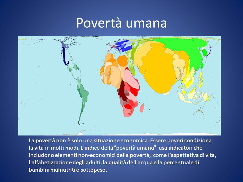 Povertà umanaUNDP – Indici di Povertà.