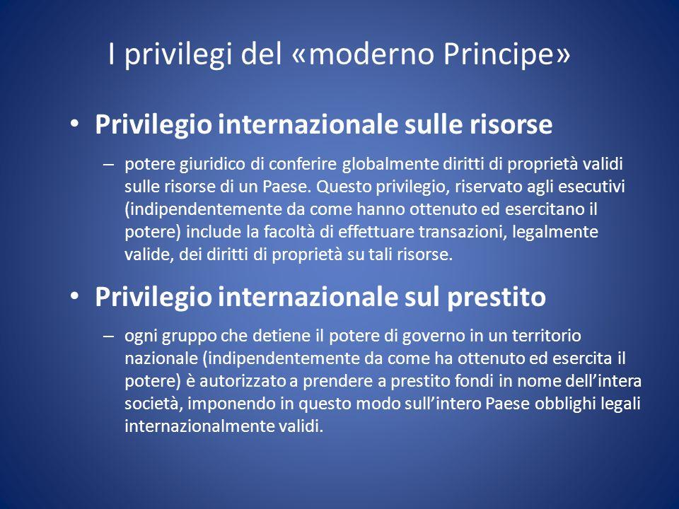 I privilegi del «moderno Principe»