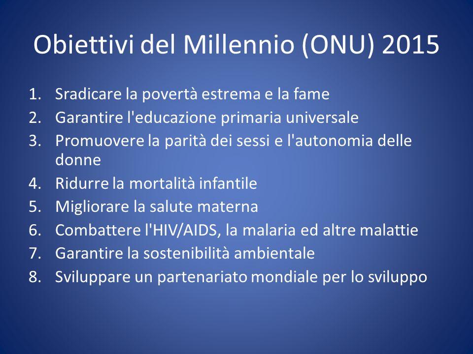 Obiettivi del Millennio (ONU) 2015