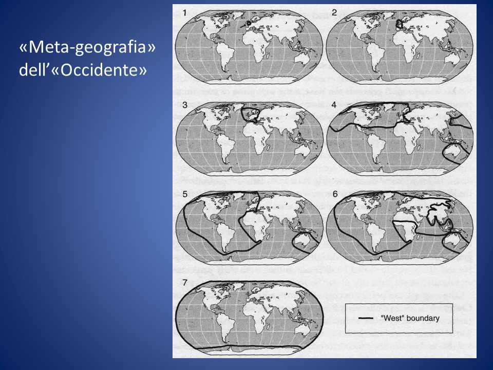 «Meta-geografia» dell'«Occidente»