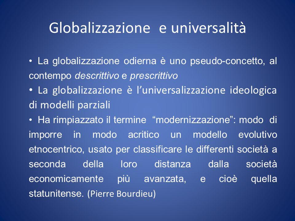 Globalizzazione e universalità