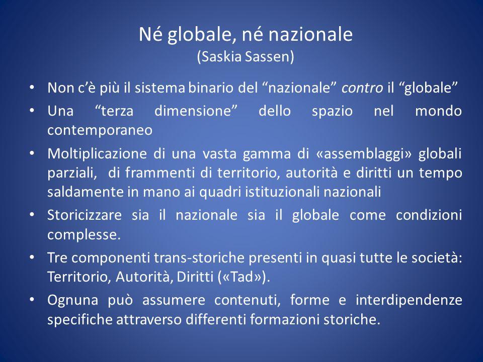Né globale, né nazionale (Saskia Sassen)
