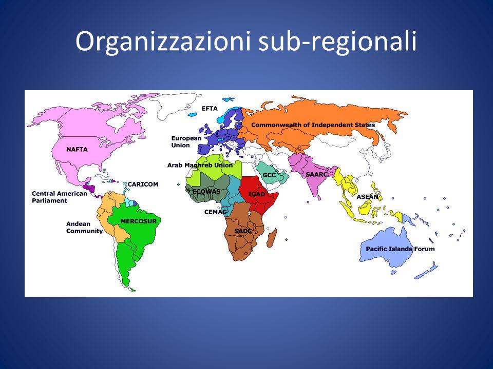 Organizzazioni sub-regionali