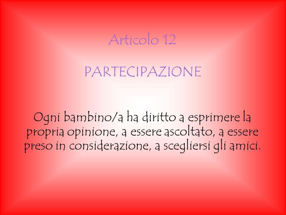 Articolo 12 PARTECIPAZIONE