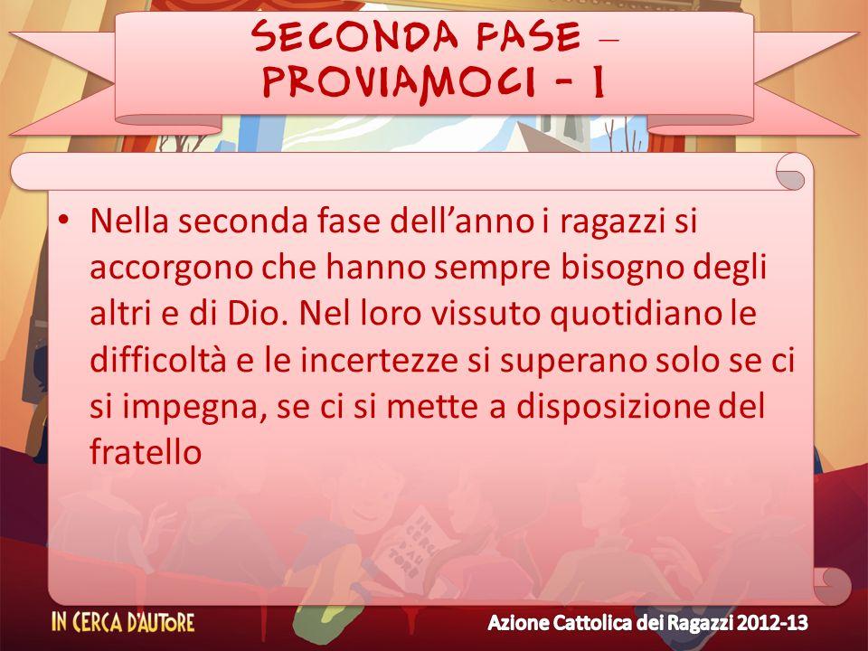 SECONDA FASE – PROVIAMOCI - 1