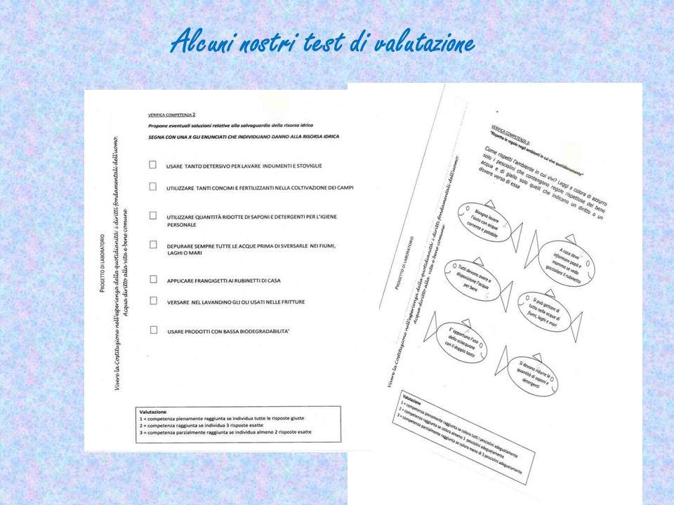 Alcuni nostri test di valutazione