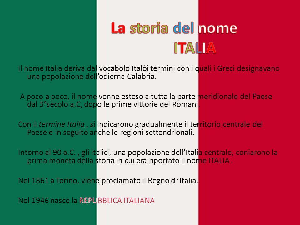 La storia del nome ITALIA