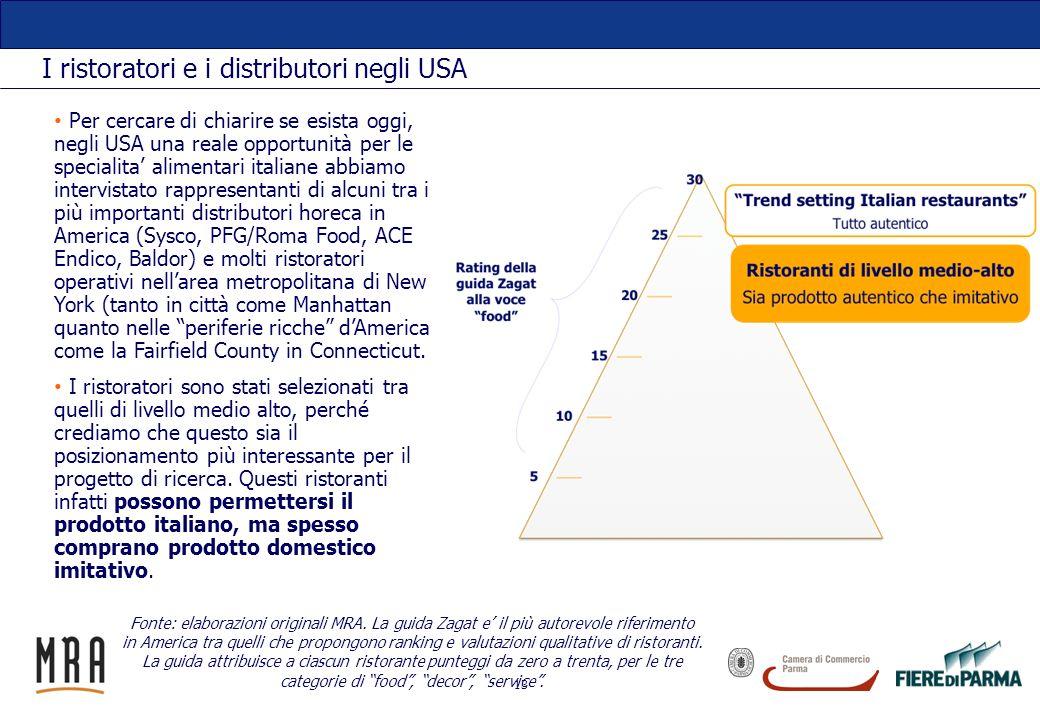 I ristoratori e i distributori negli USA