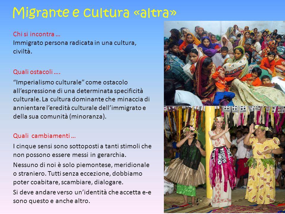 Migrante e cultura «altra»