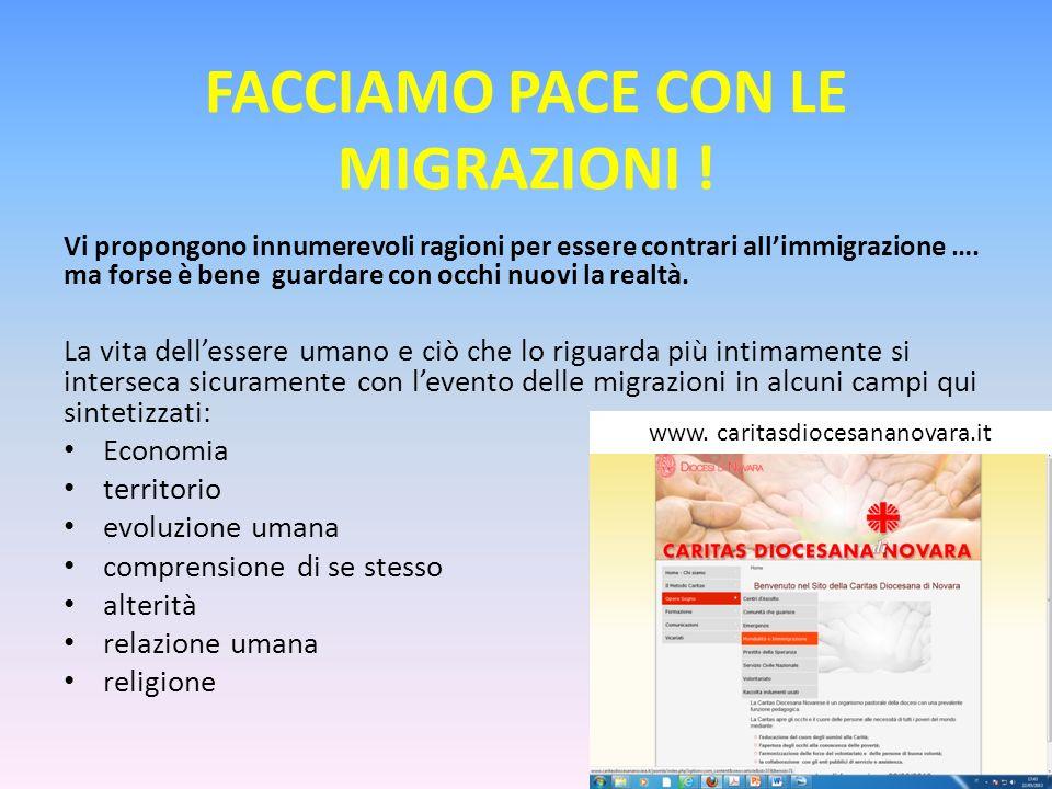 Facciamo pace con le migrazioni !