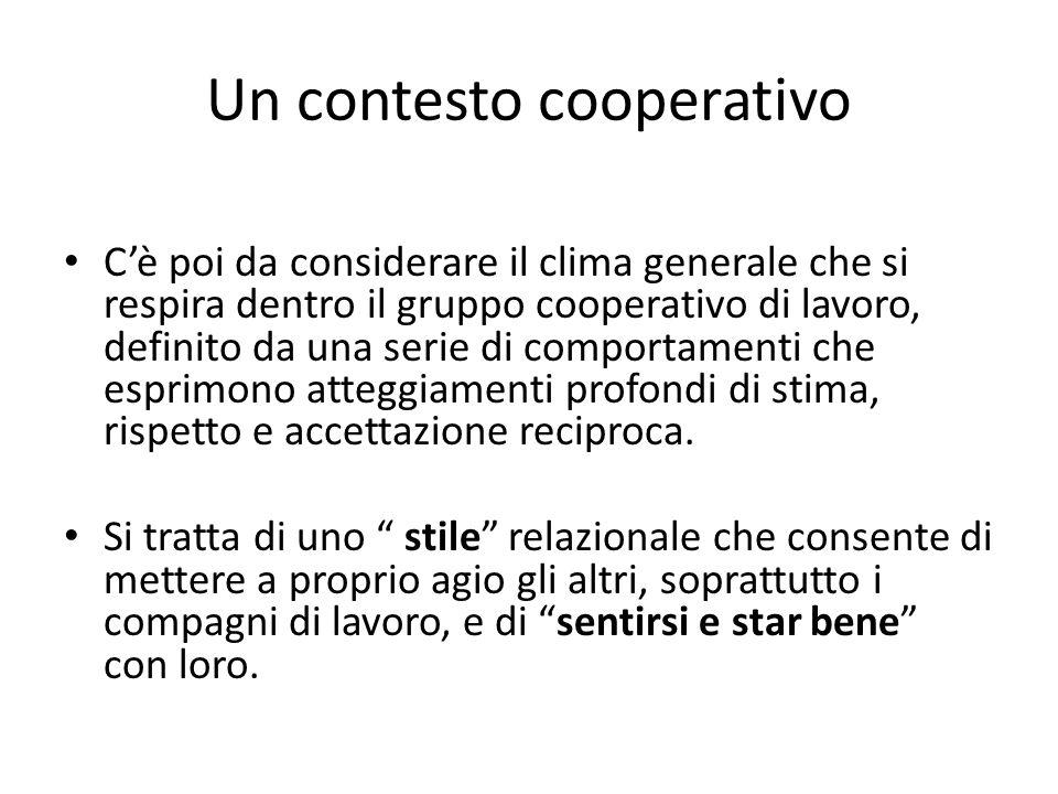 Un contesto cooperativo