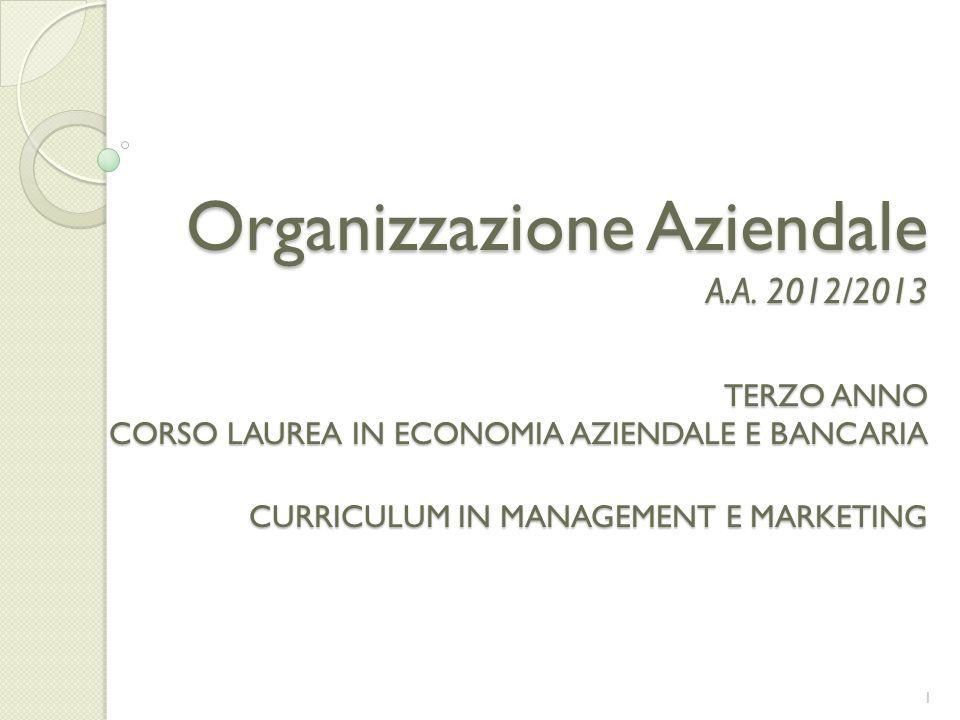 Organizzazione Aziendale A. A