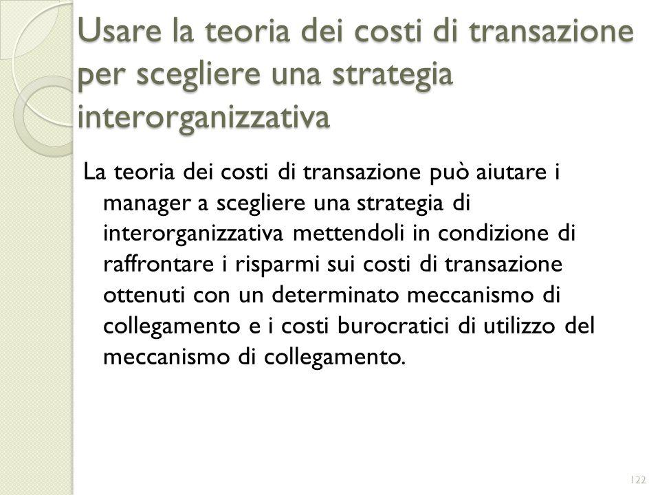 Usare la teoria dei costi di transazione per scegliere una strategia interorganizzativa