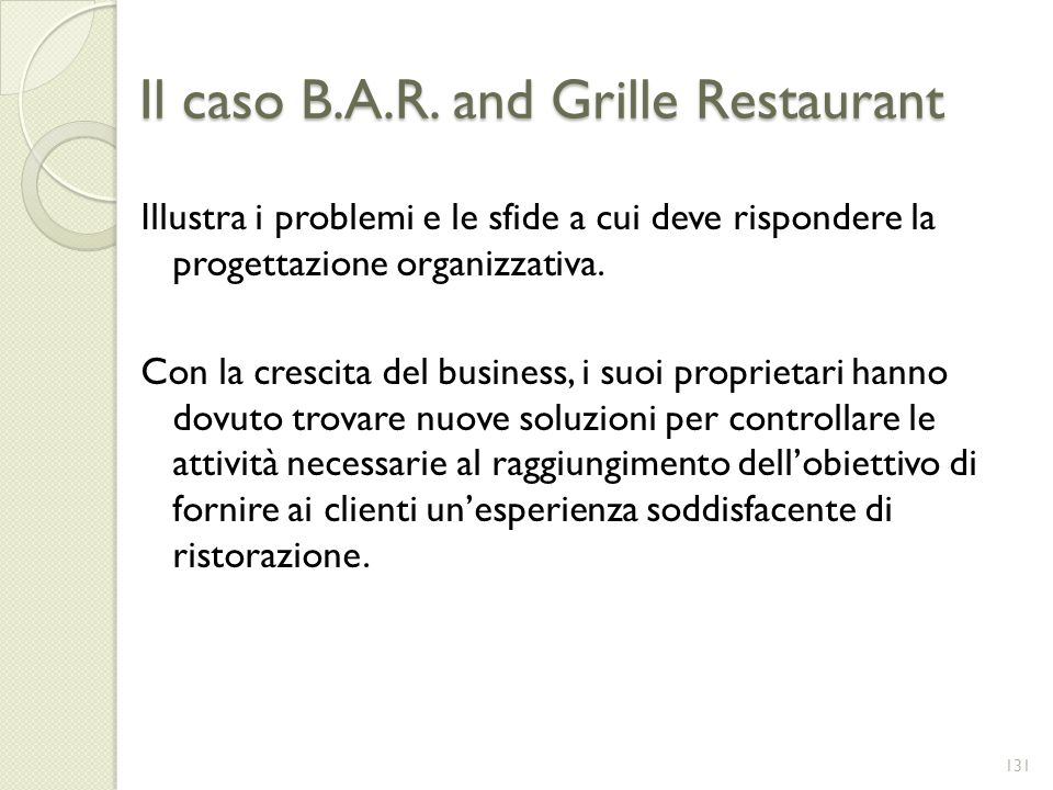 Il caso B.A.R. and Grille Restaurant