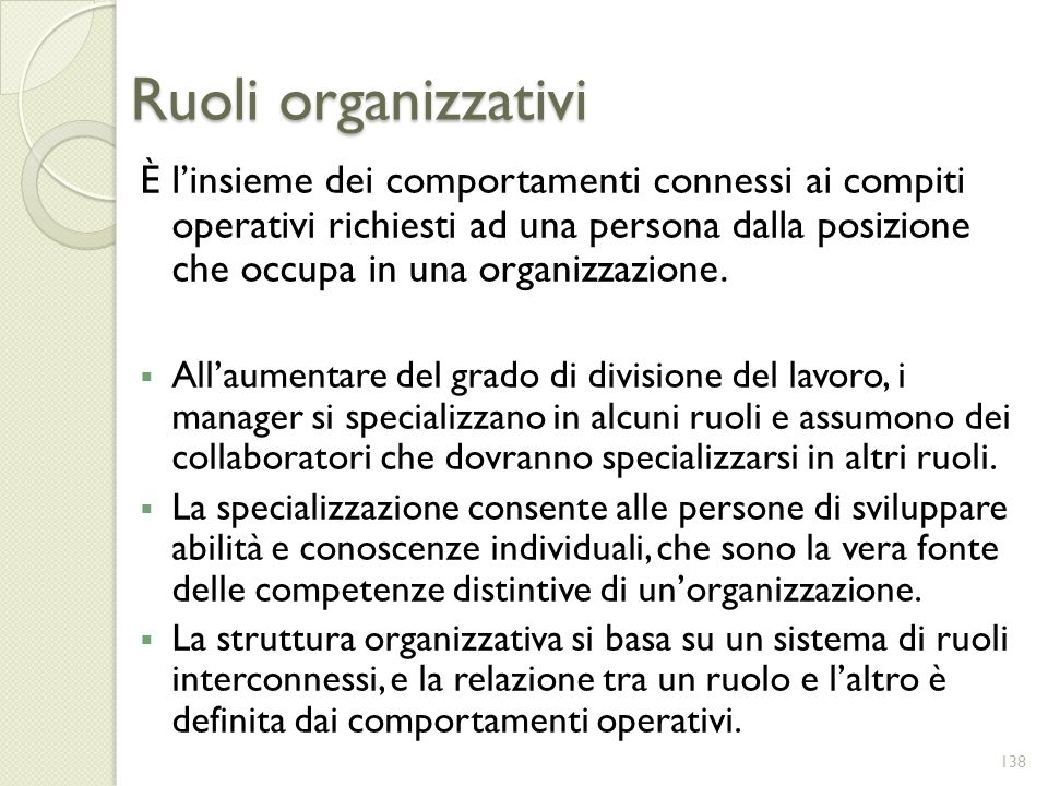 Ruoli organizzativi